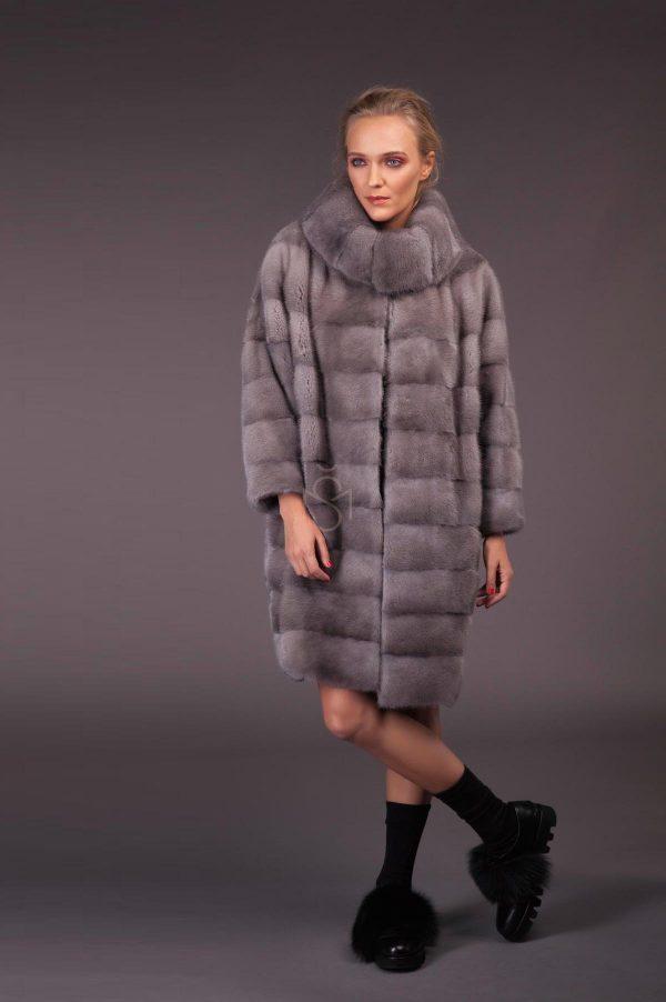 Sapphire mink fur coat