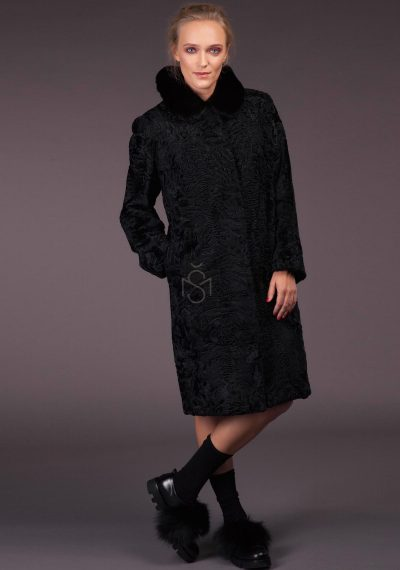 Karakul fur coat