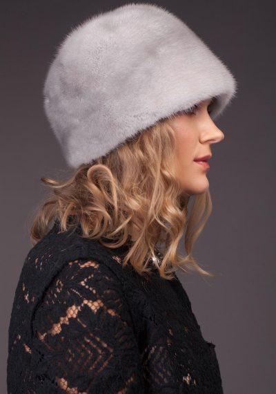 Safyro audinės kailio kepurė