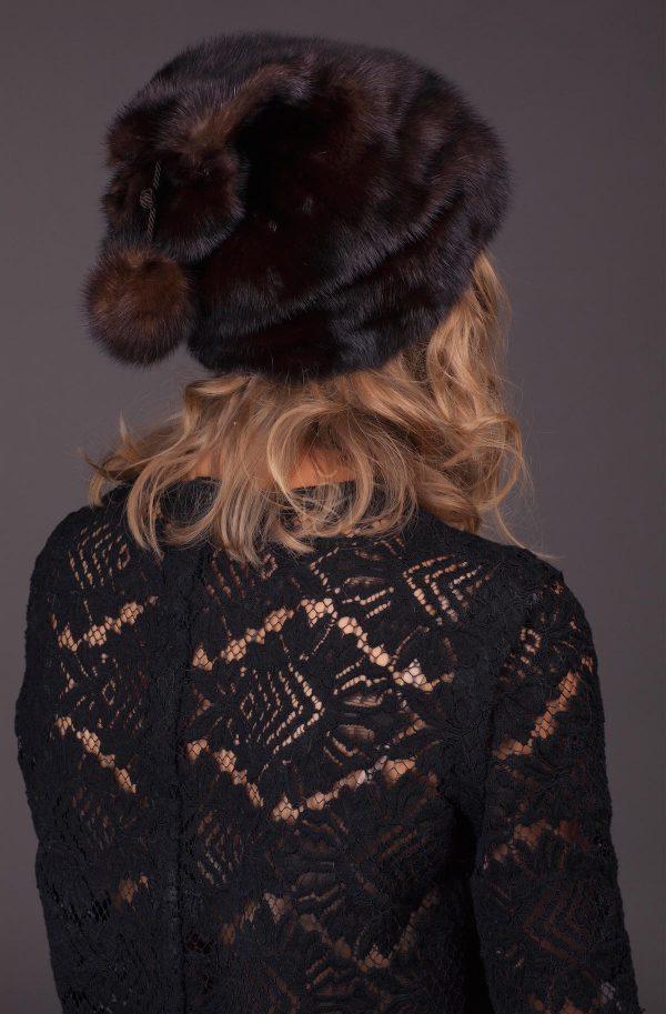 Audinės kailio kepurė
