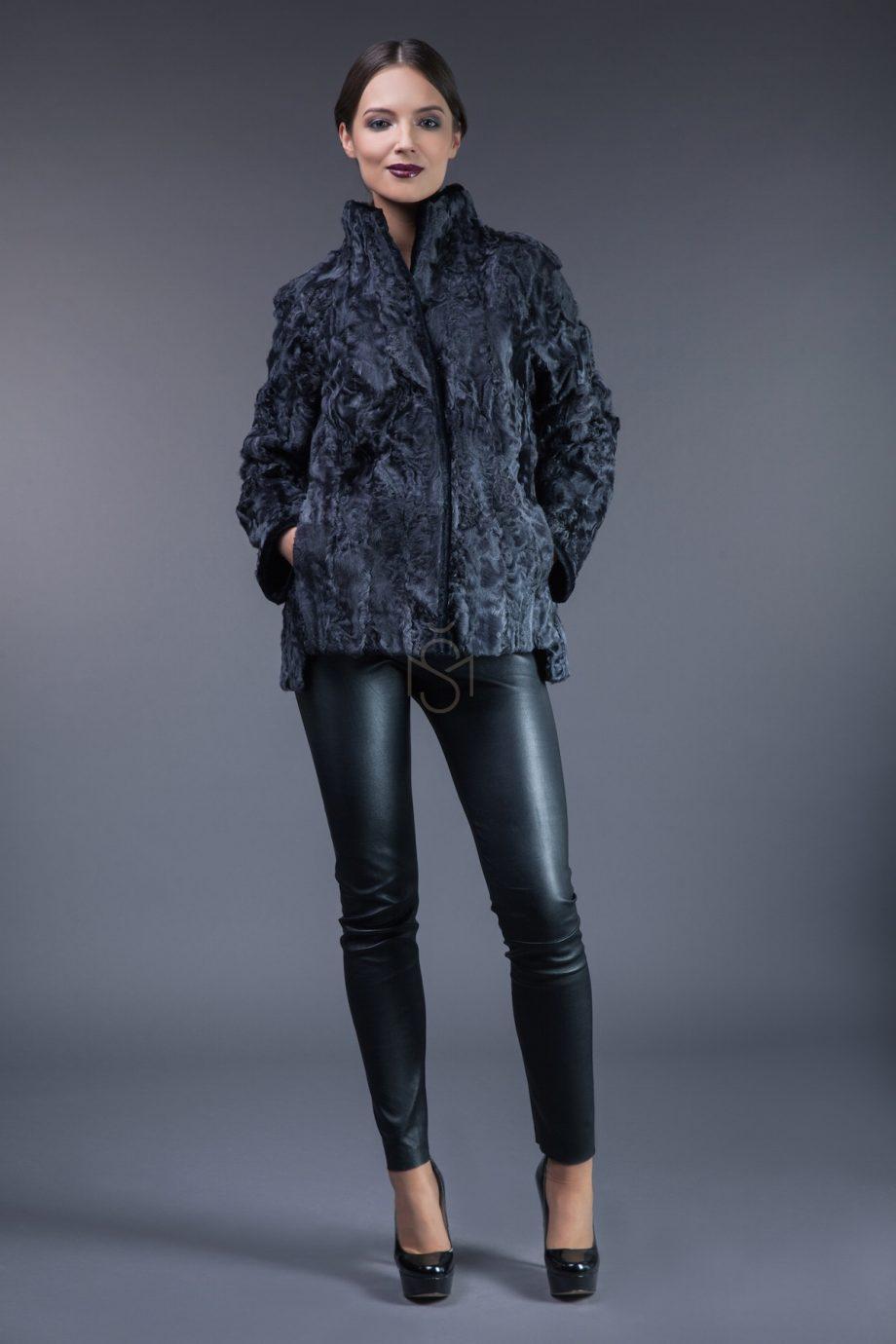 Karakul fur coat