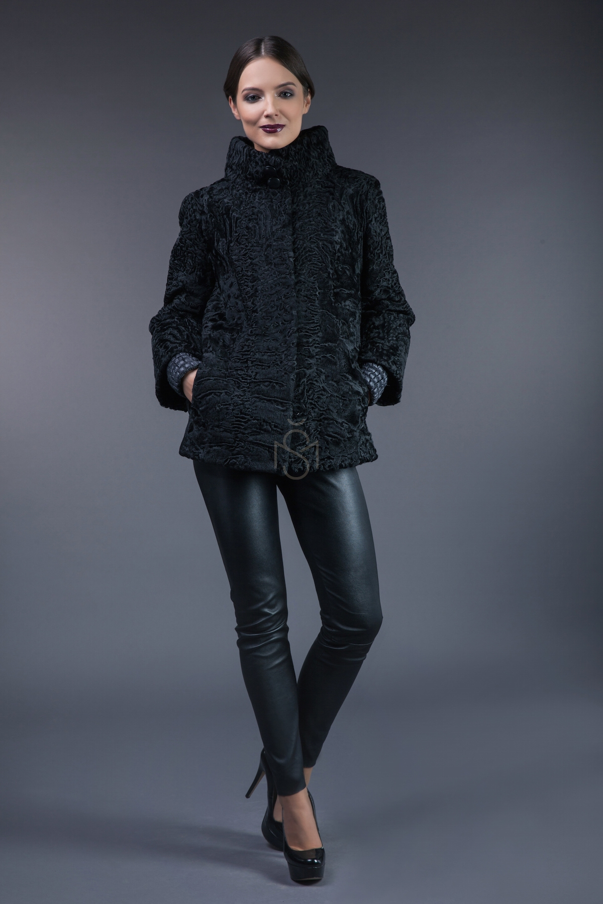 Karakul fur jacket