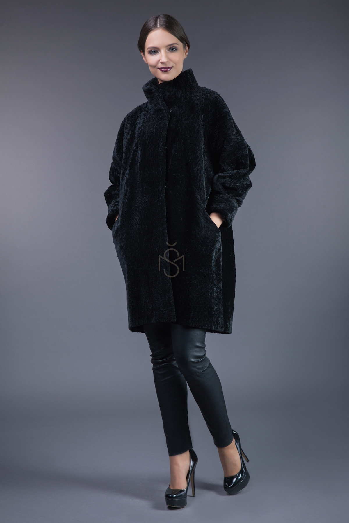 Mutton sheepskin coat