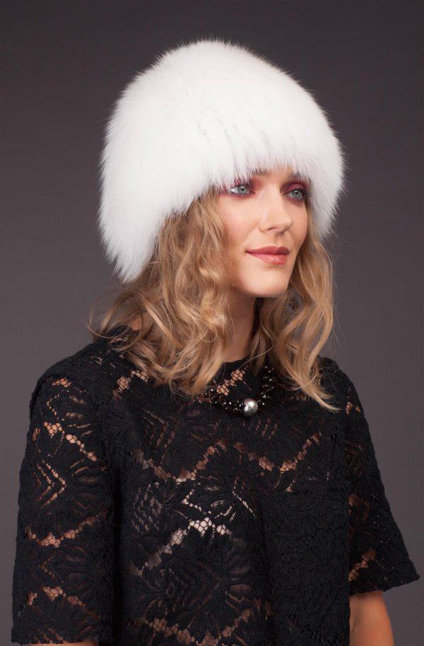 Lapės kailio kepurė