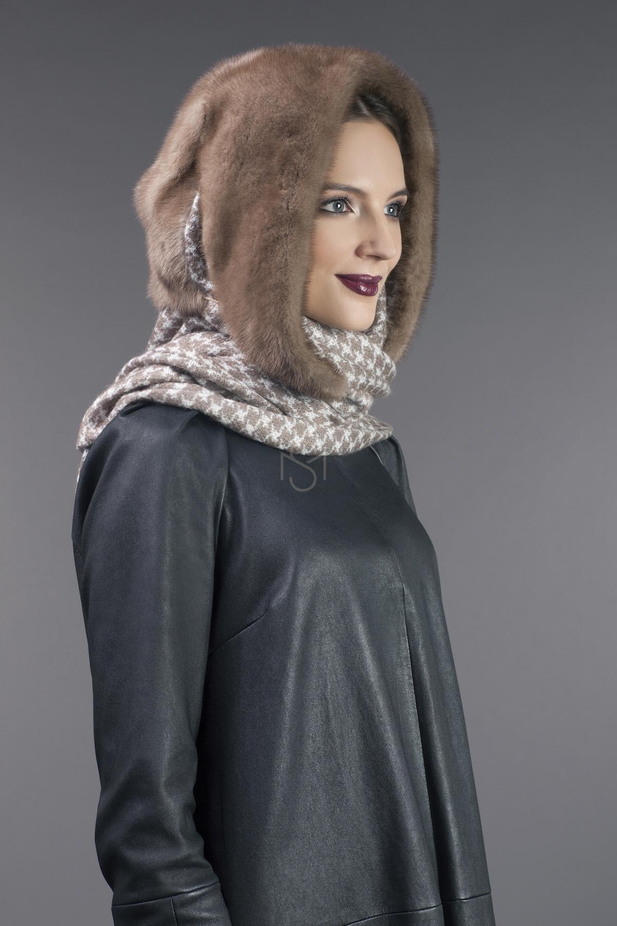 mink fur shawl,