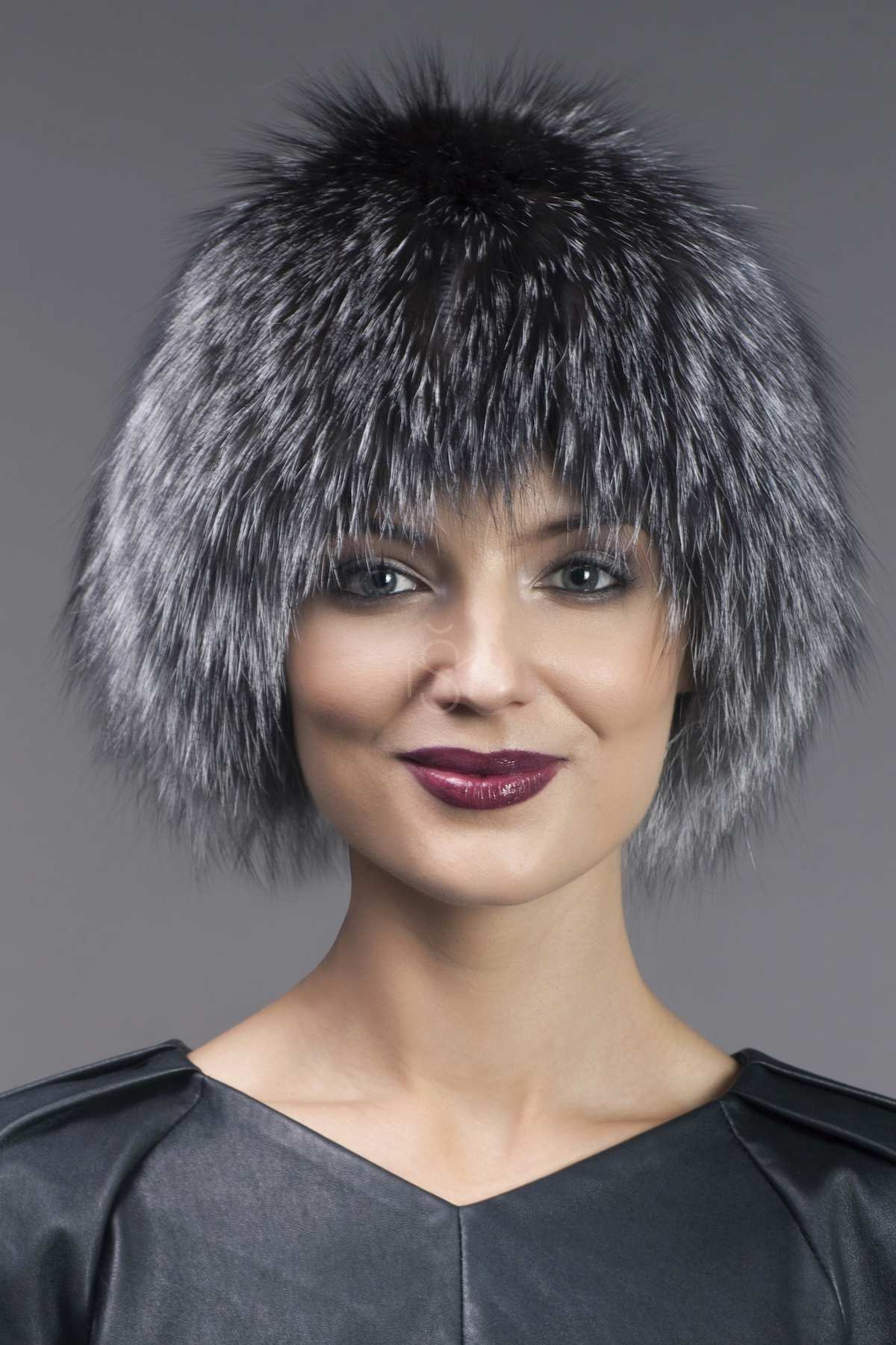 silver fox knitted hat