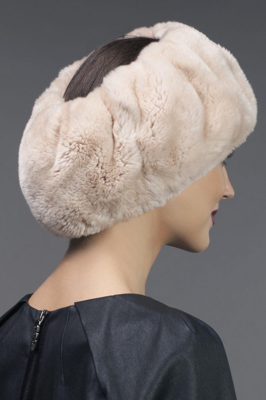 Полоска на голову из меха рекса