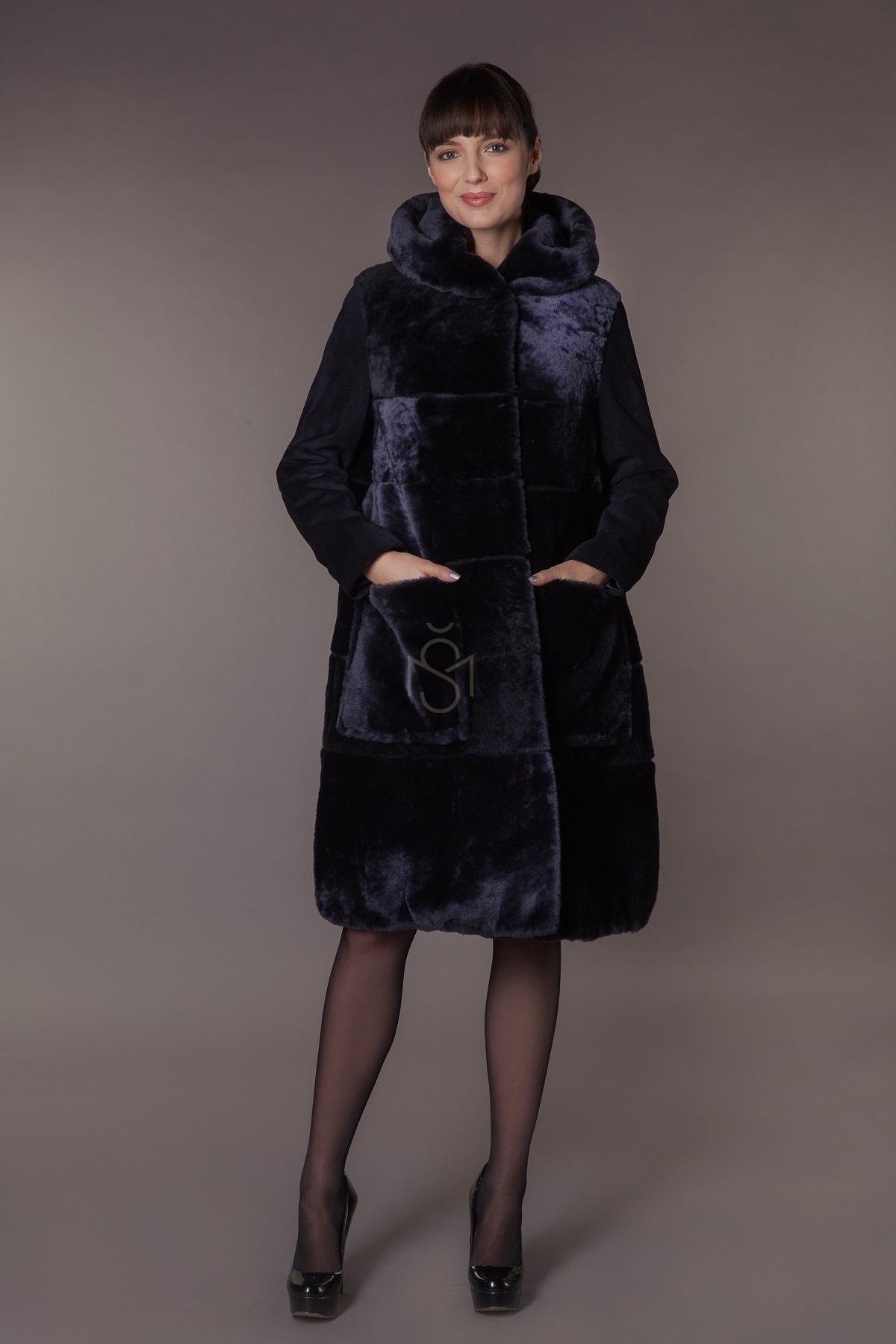 Mouton sheepskin coat