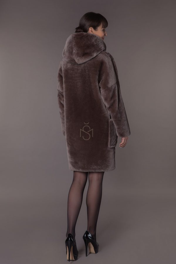 Mouton sheepskin coat