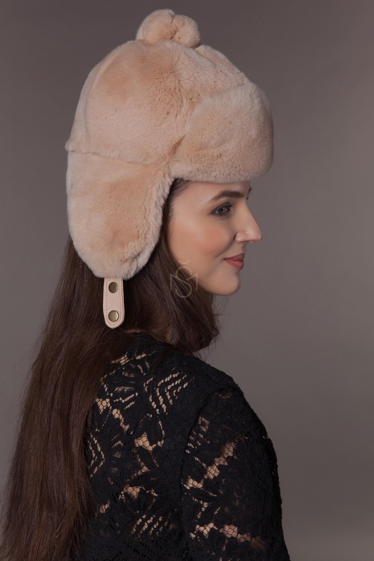 Rex rabbit fur hat