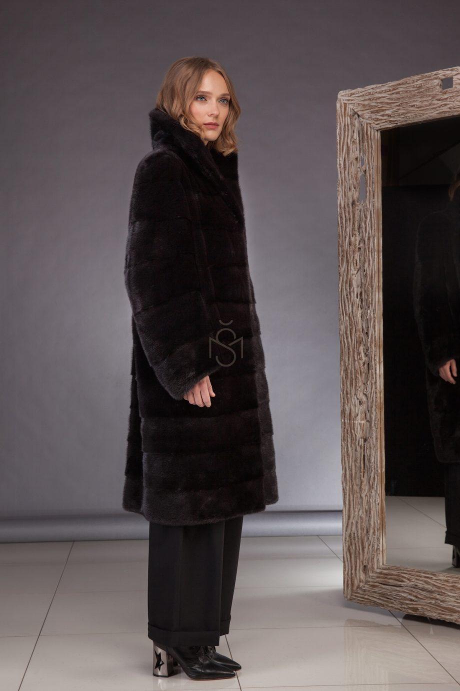 High quality mink fur coat made by SILTA MADA fur studio in Vilnius