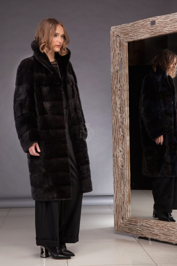 High quality mink fur coat made by SILTA MADA fur studio in Vilnius