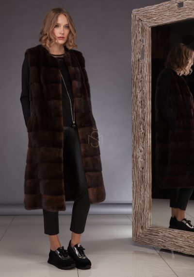 High quality mink fur vest made by SILTA MADA fur studio in Vilnius