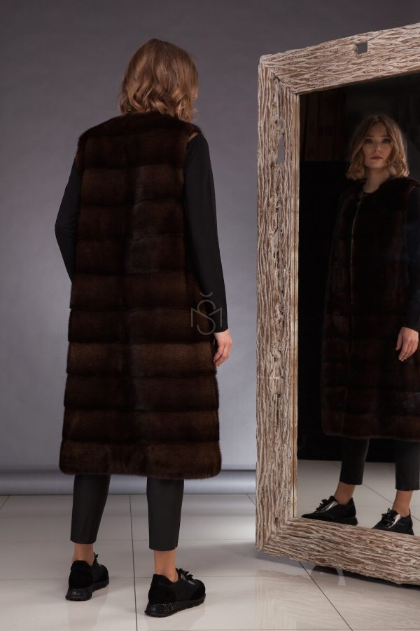 High quality mink fur vest made by SILTA MADA fur studio in Vilnius