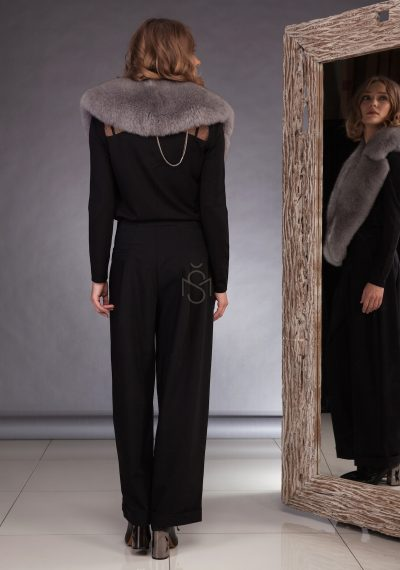 Fox fur collar, color gray made by SILTA MADA fur studio in Vilnius