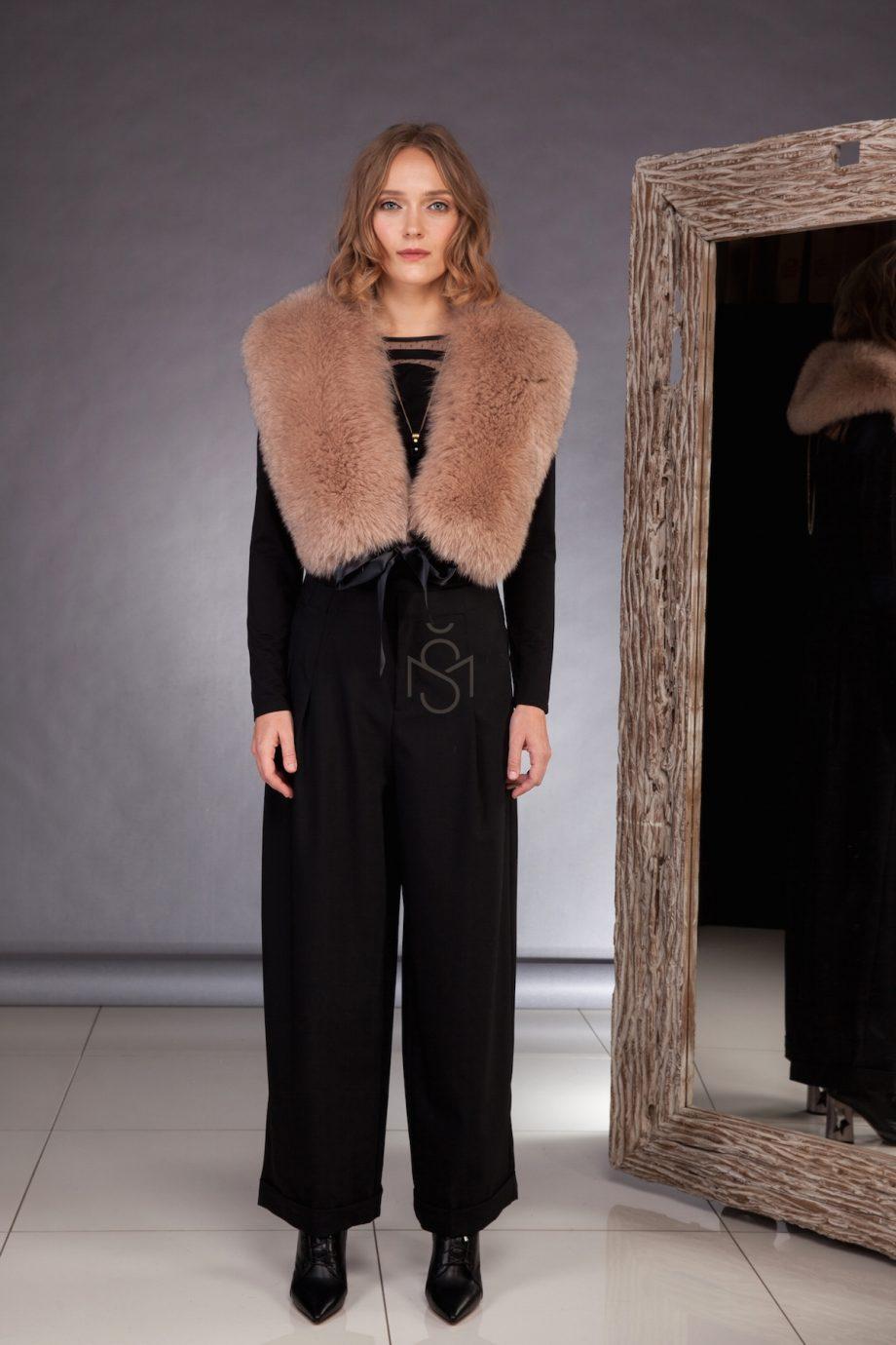 Fox fur collar brown made by SILTA MADA fur studio in Vilnius
