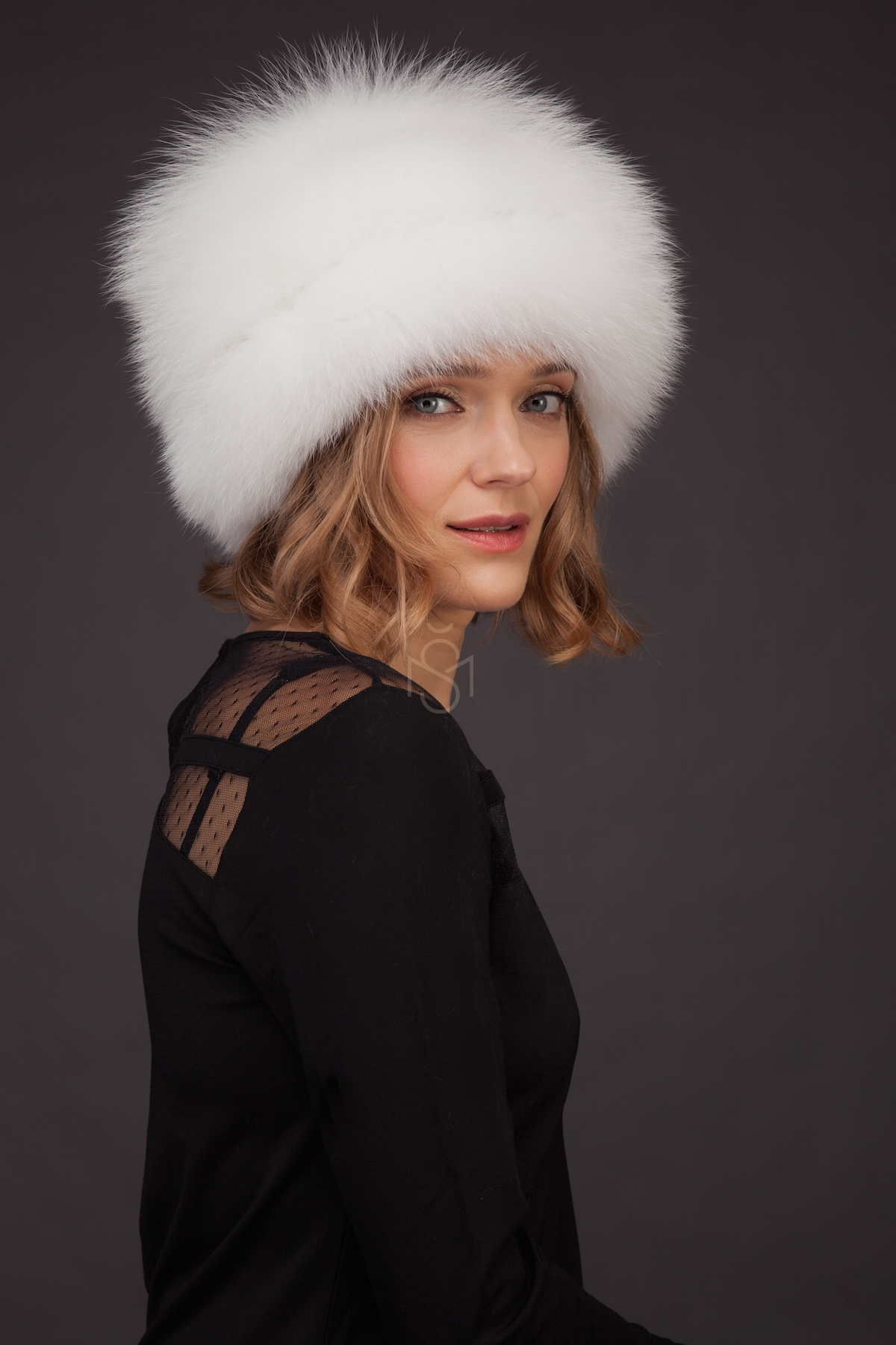 d1d033a0cb7 Fox fur hat with leather inserts made by SILTA MADA fur studio in Vilnius  ...