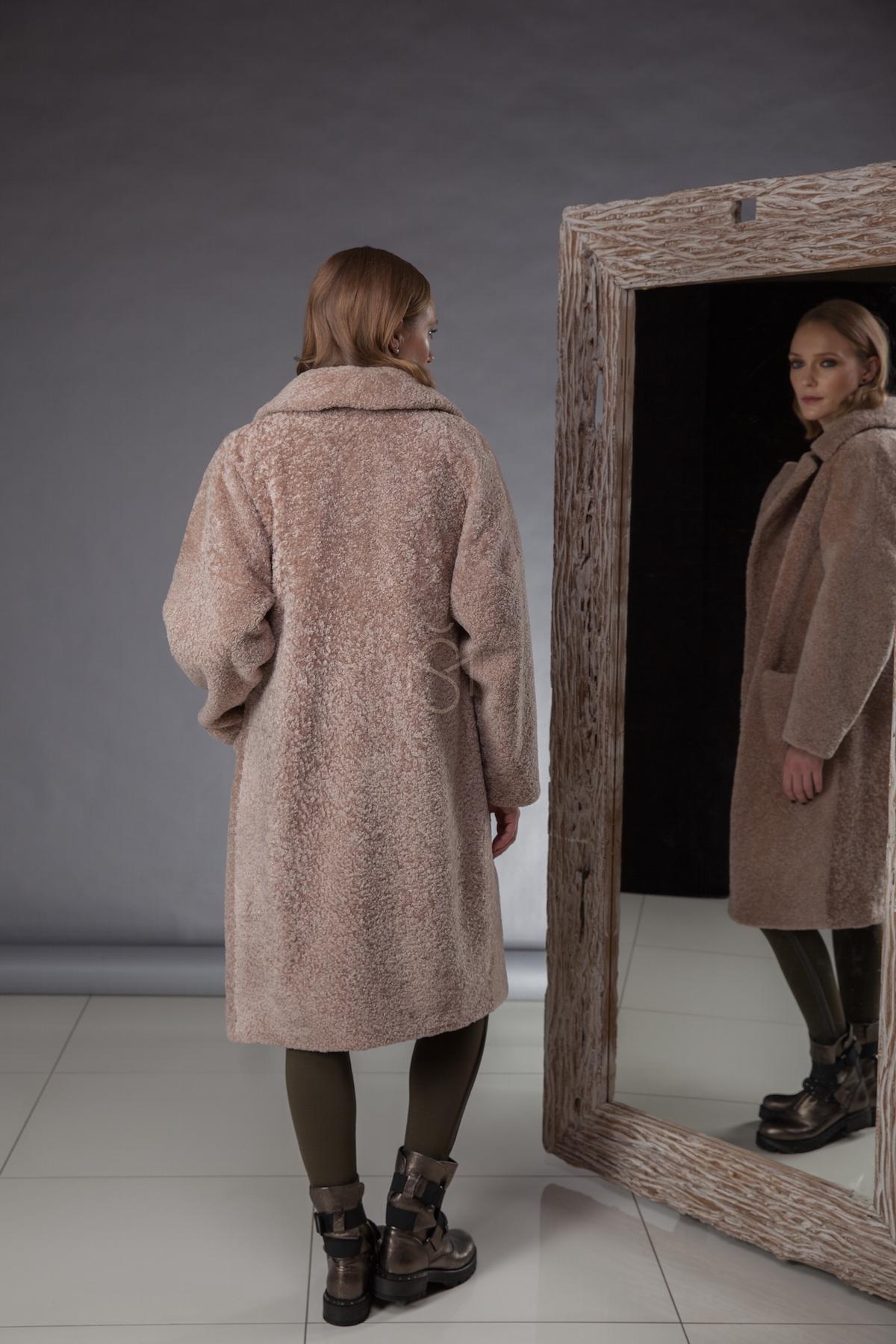 High quality,especially soft and light sheepskin coatmade by Silta Mada fur studio in Vilnius