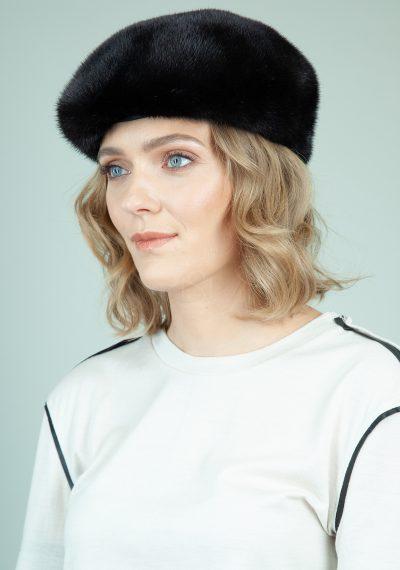 juoda audines kailio kepure su snapeliu moterims