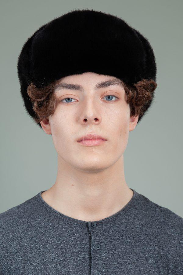 klasikine juodos audines kepure usanka