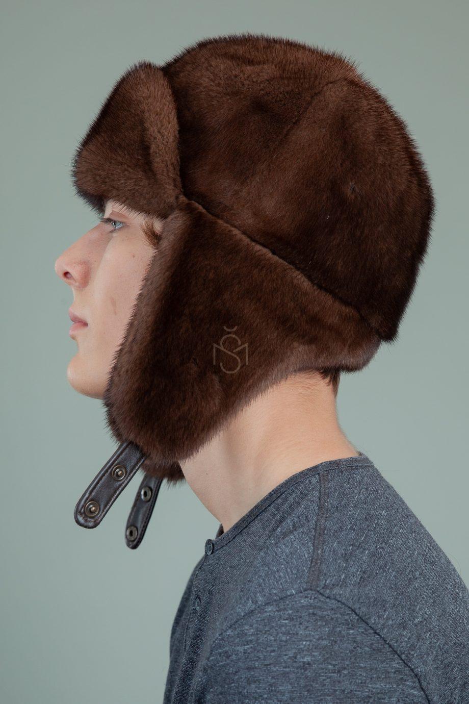 klasikine rudos audines kepure usanka su ausimis